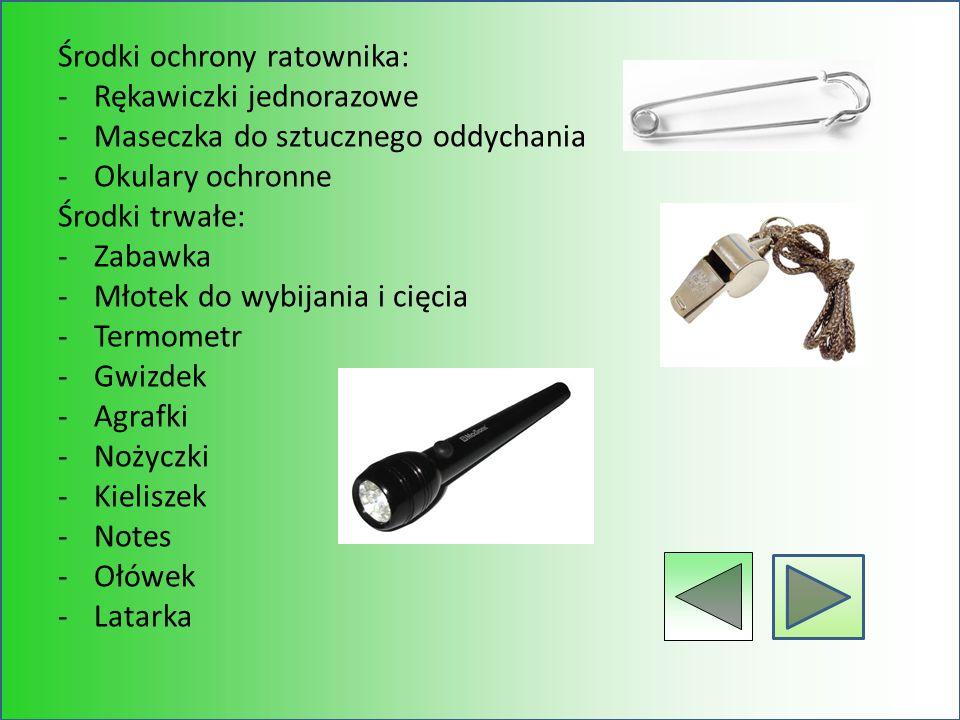 Środki ochrony ratownika: