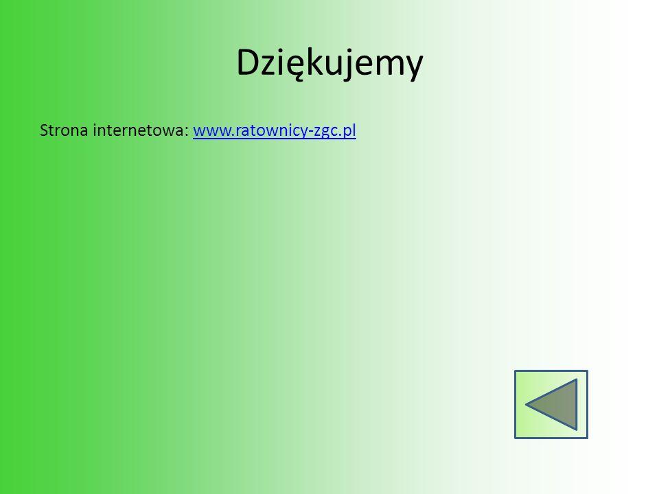 Dziękujemy Strona internetowa: www.ratownicy-zgc.pl