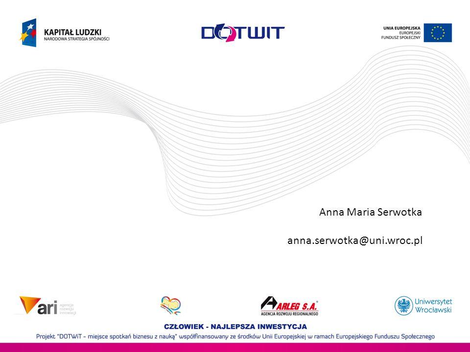 Anna Maria Serwotka anna.serwotka@uni.wroc.pl