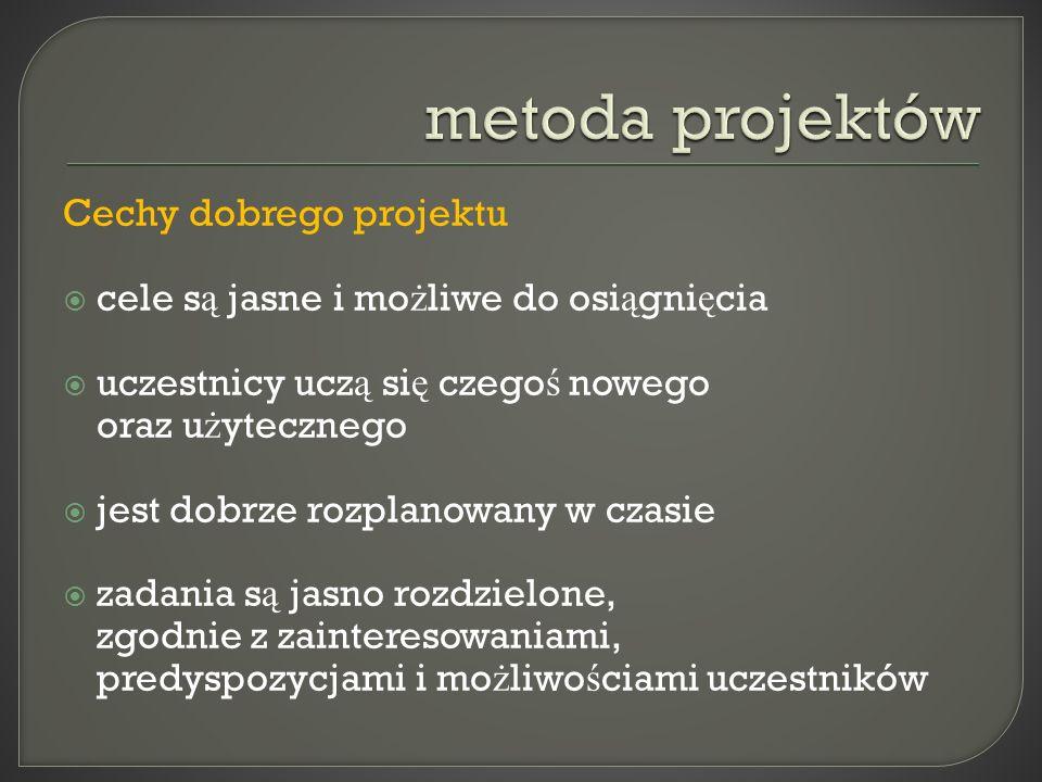 metoda projektów Cechy dobrego projektu