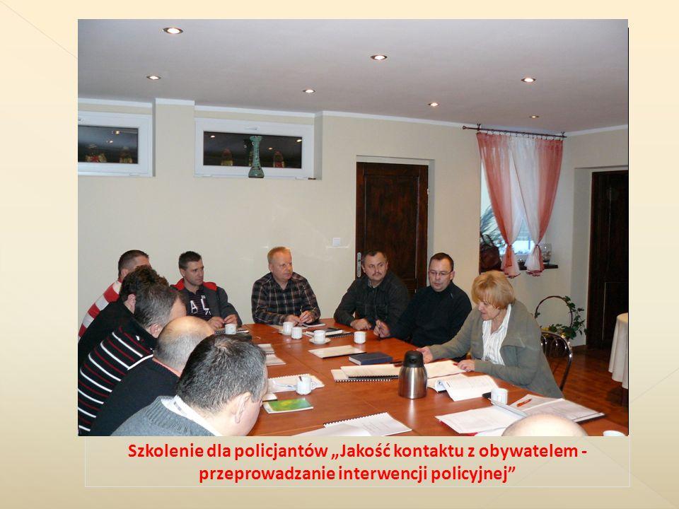"""Szkolenie dla policjantów """"Jakość kontaktu z obywatelem - przeprowadzanie interwencji policyjnej"""
