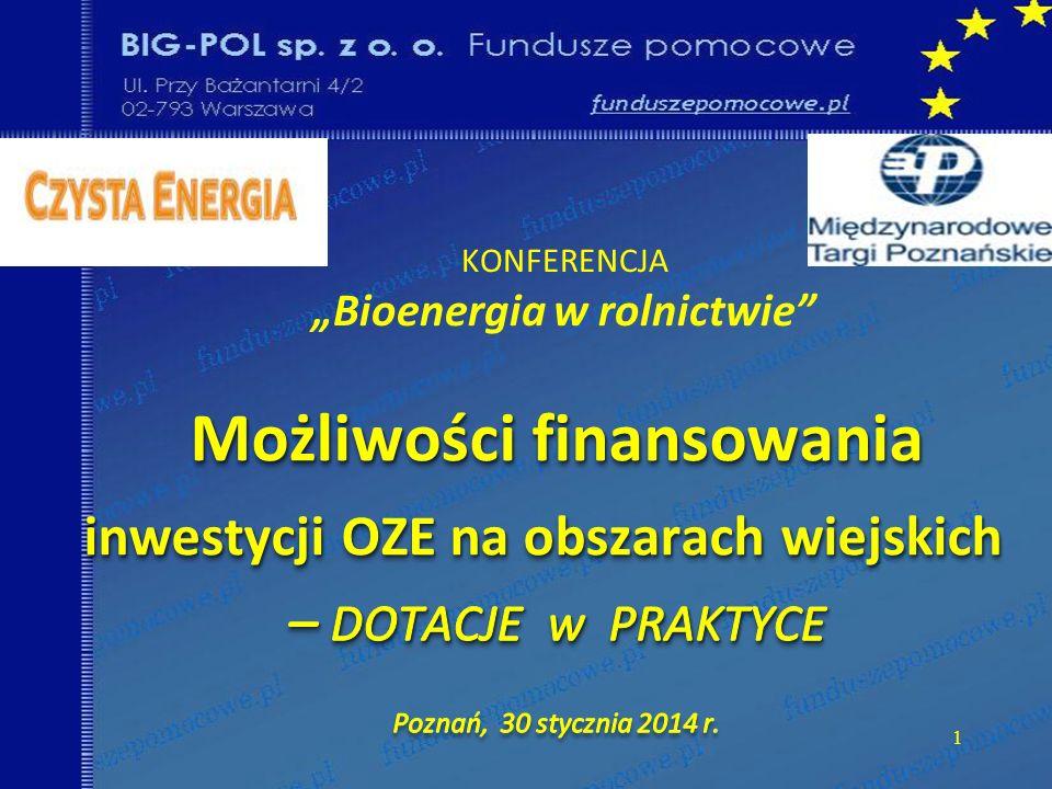 """KONFERENCJA """"Bioenergia w rolnictwie"""
