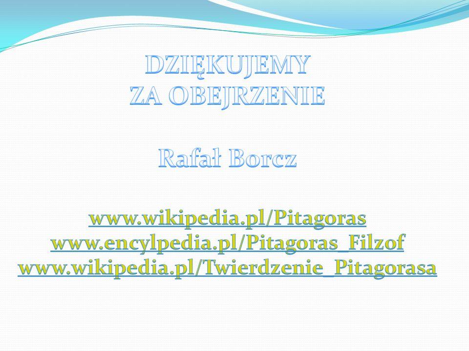 DZIĘKUJEMY ZA OBEJRZENIE Rafał Borcz