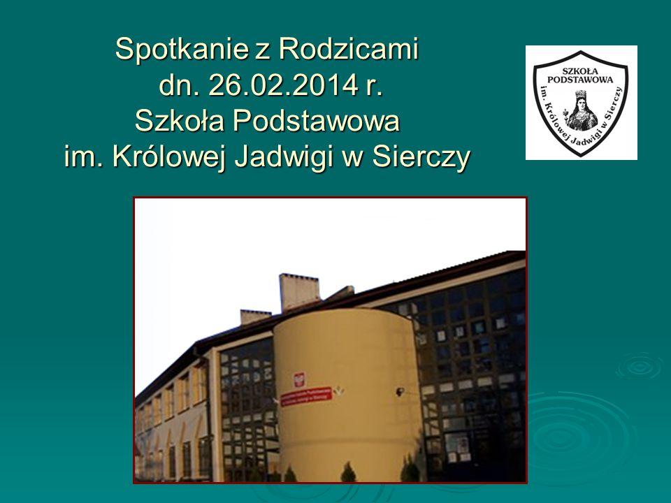 Spotkanie z Rodzicami dn. 26. 02. 2014 r. Szkoła Podstawowa im