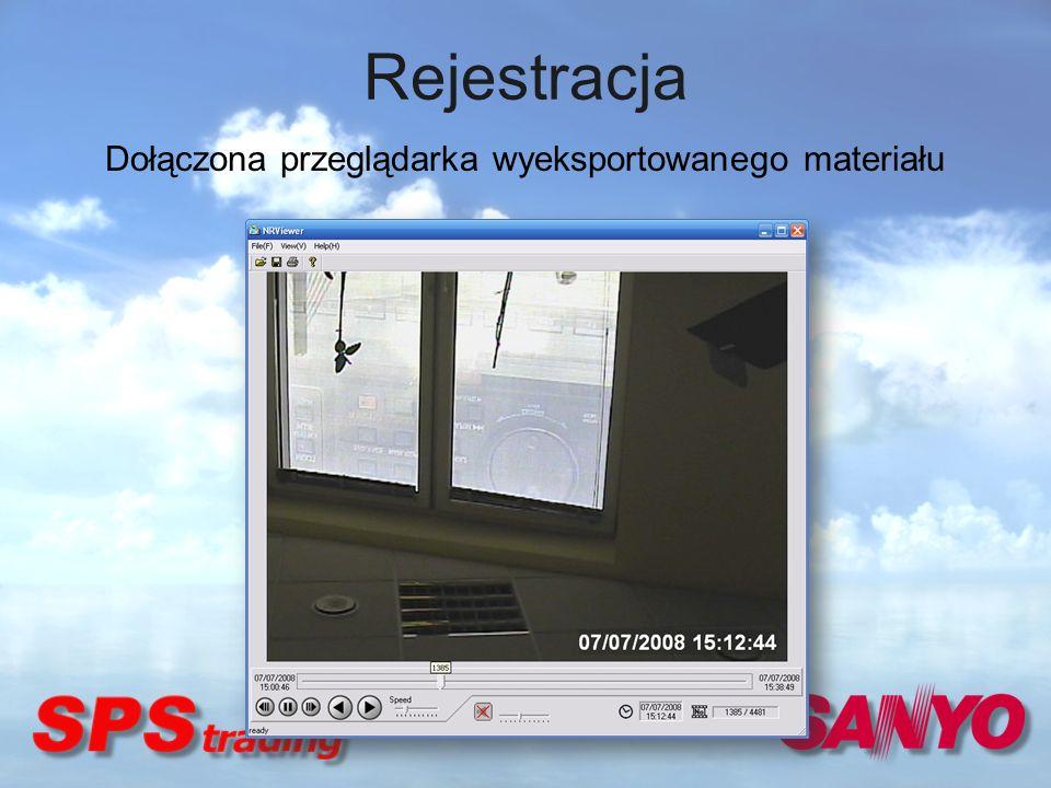 Dołączona przeglądarka wyeksportowanego materiału