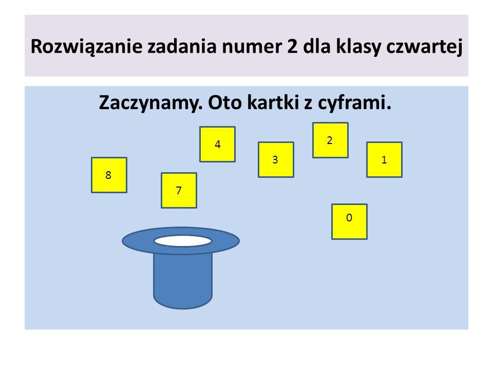 Rozwiązanie zadania numer 2 dla klasy czwartej