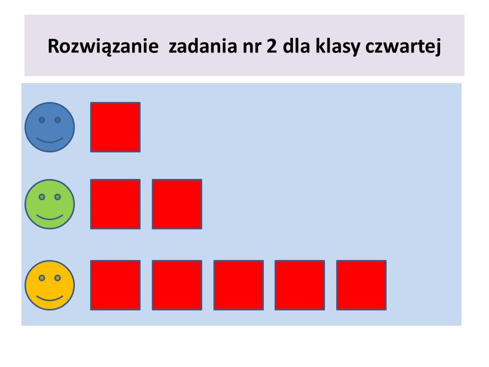 Rozwiązanie zadania nr 2 dla klasy czwartej