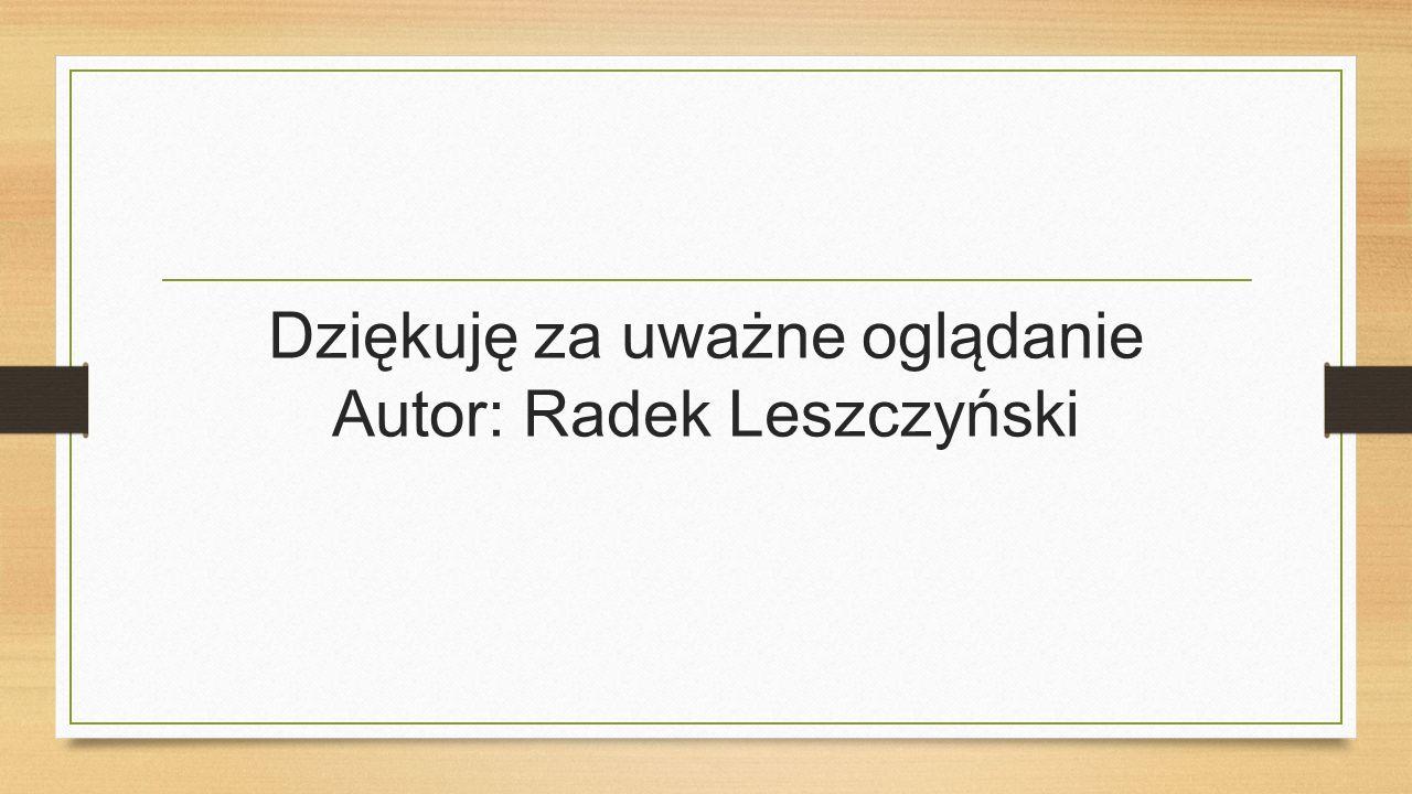Dziękuję za uważne oglądanie Autor: Radek Leszczyński