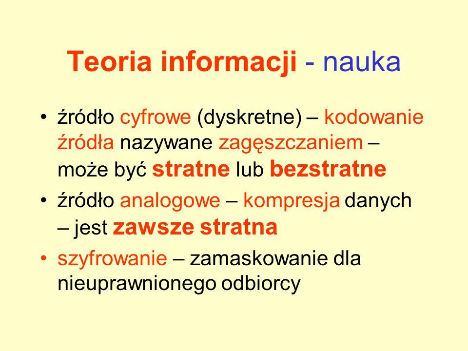 Teoria informacji - nauka