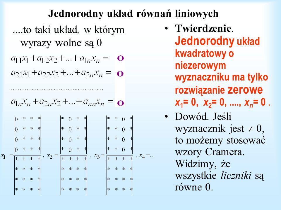 Jednorodny układ równań liniowych