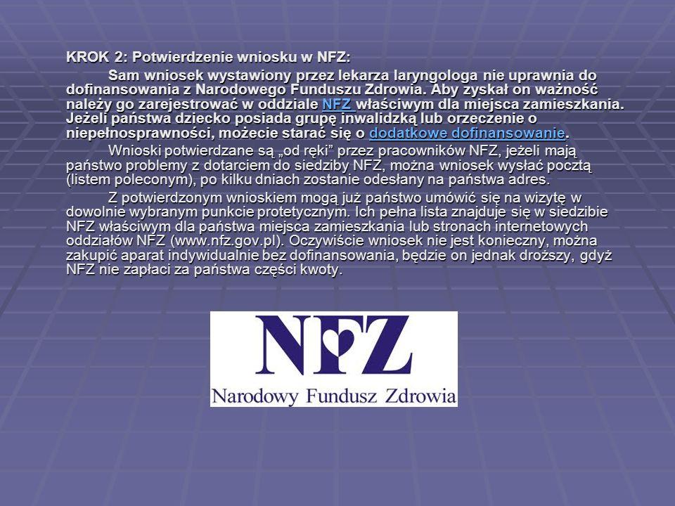 KROK 2: Potwierdzenie wniosku w NFZ: