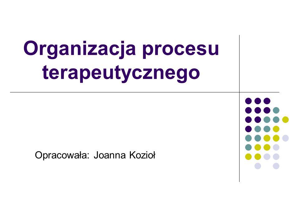 Organizacja procesu terapeutycznego