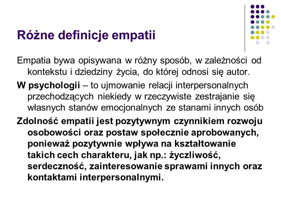 Różne definicje empatii