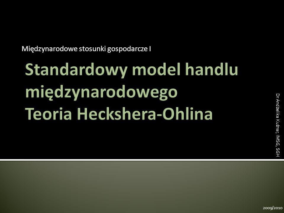 Standardowy model handlu międzynarodowego Teoria Heckshera-Ohlina