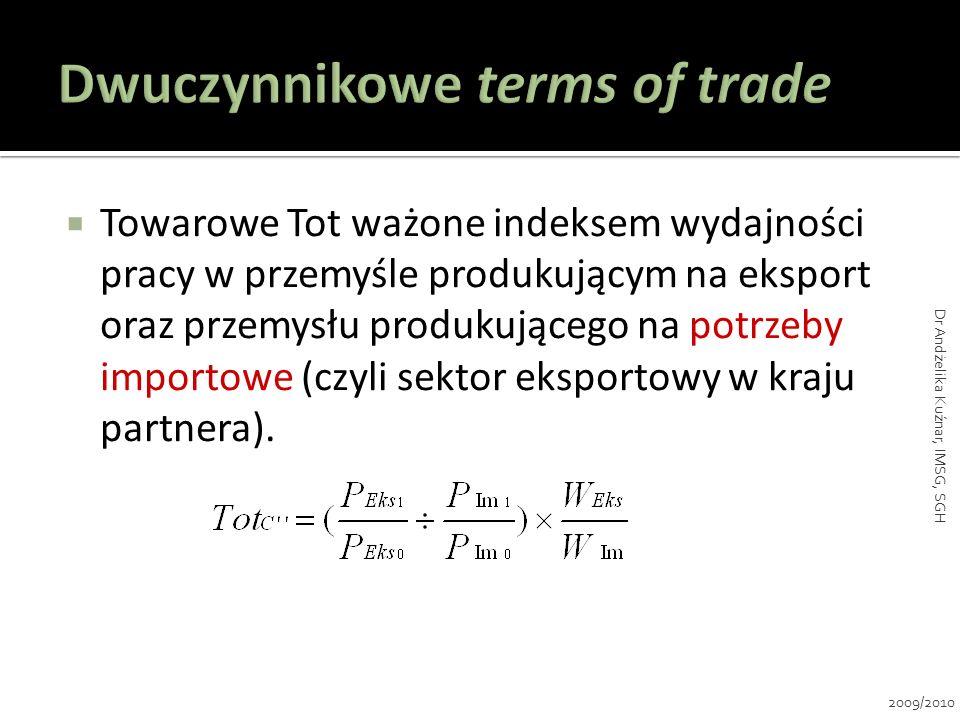 Dwuczynnikowe terms of trade