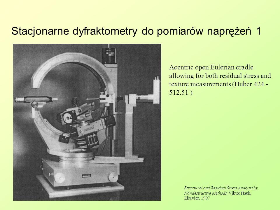 Stacjonarne dyfraktometry do pomiarów naprężeń 1