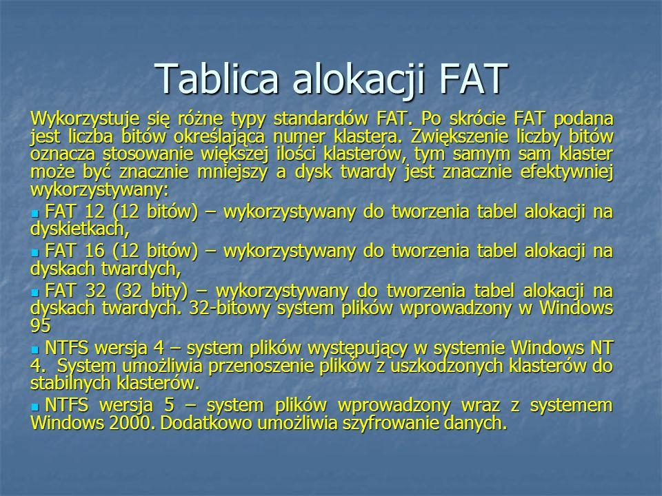 Tablica alokacji FAT