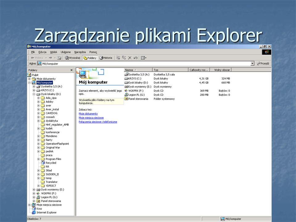 Zarządzanie plikami Explorer