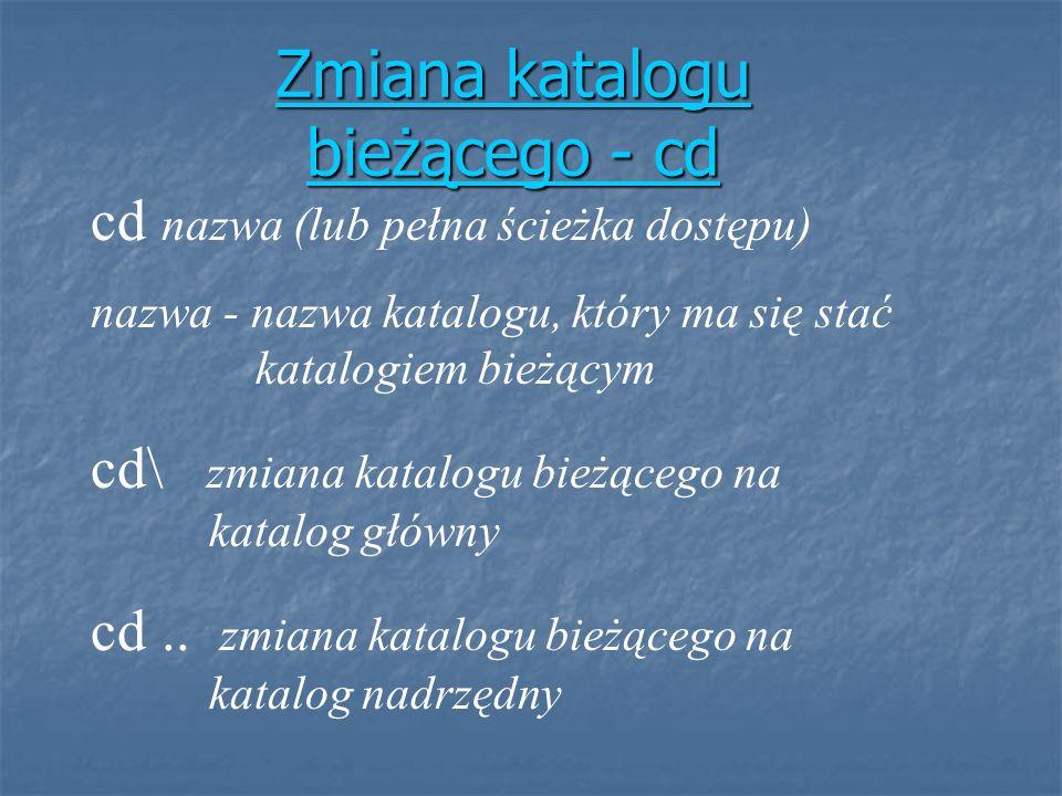 Zmiana katalogu bieżącego - cd
