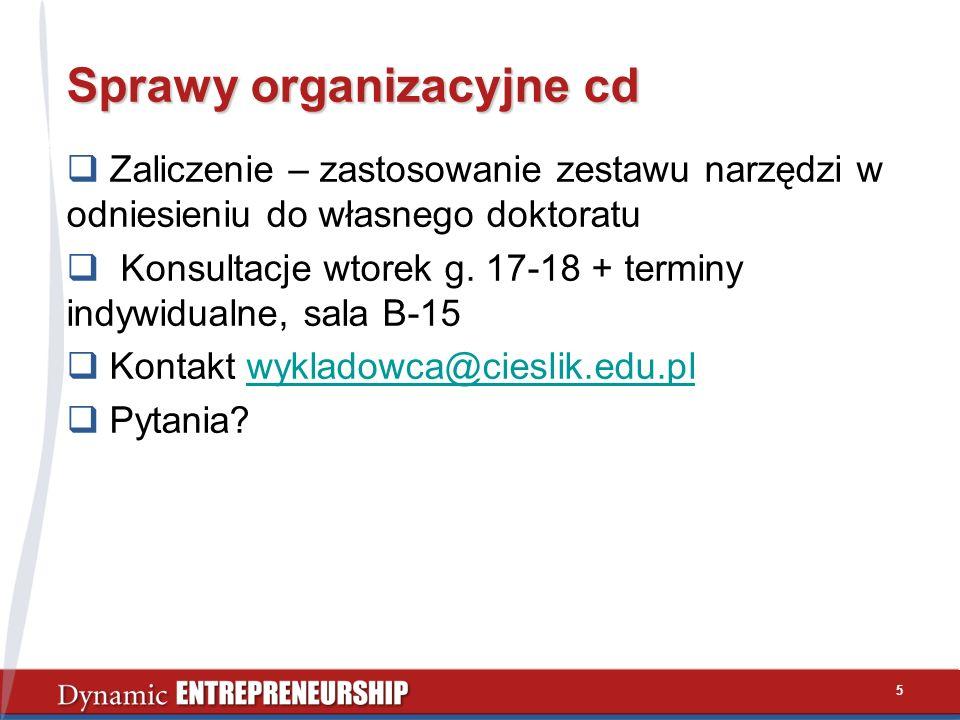 Sprawy organizacyjne cd