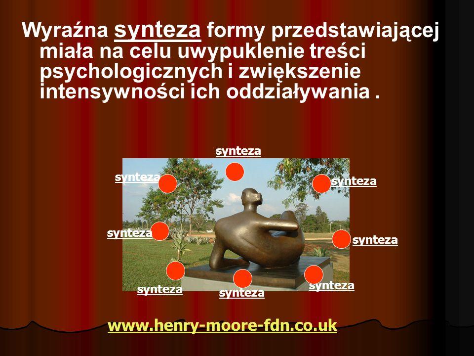 Wyraźna synteza formy przedstawiającej miała na celu uwypuklenie treści psychologicznych i zwiększenie intensywności ich oddziaływania .