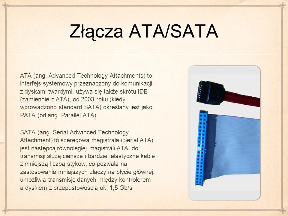 Złącza ATA/SATA