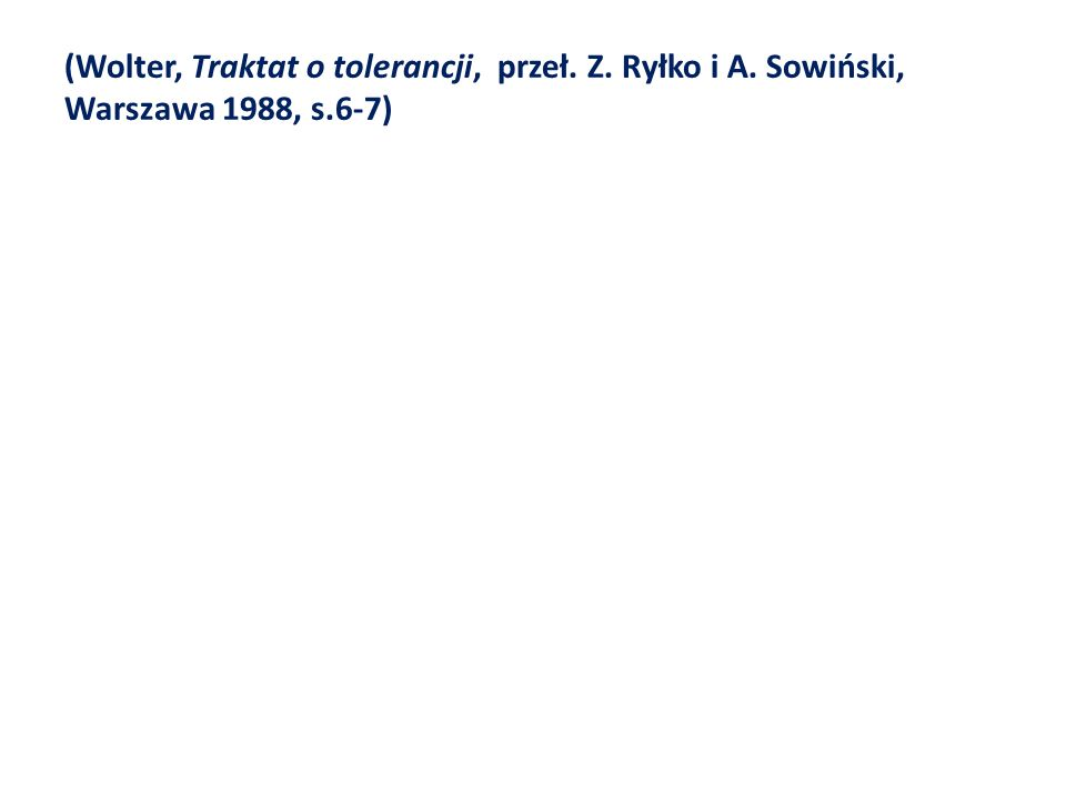 (Wolter, Traktat o tolerancji, przeł. Z. Ryłko i A