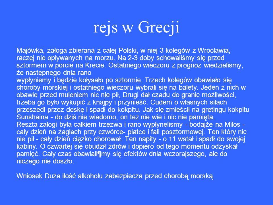 rejs w Grecji