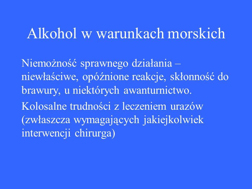 Alkohol w warunkach morskich