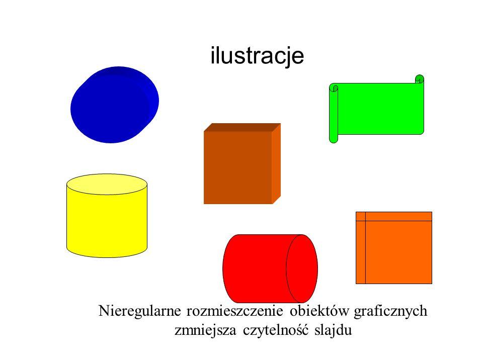 ilustracje Nieregularne rozmieszczenie obiektów graficznych