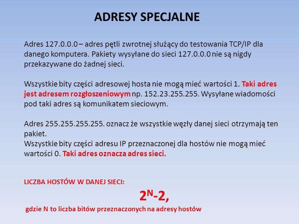 ADRESY SPECJALNE