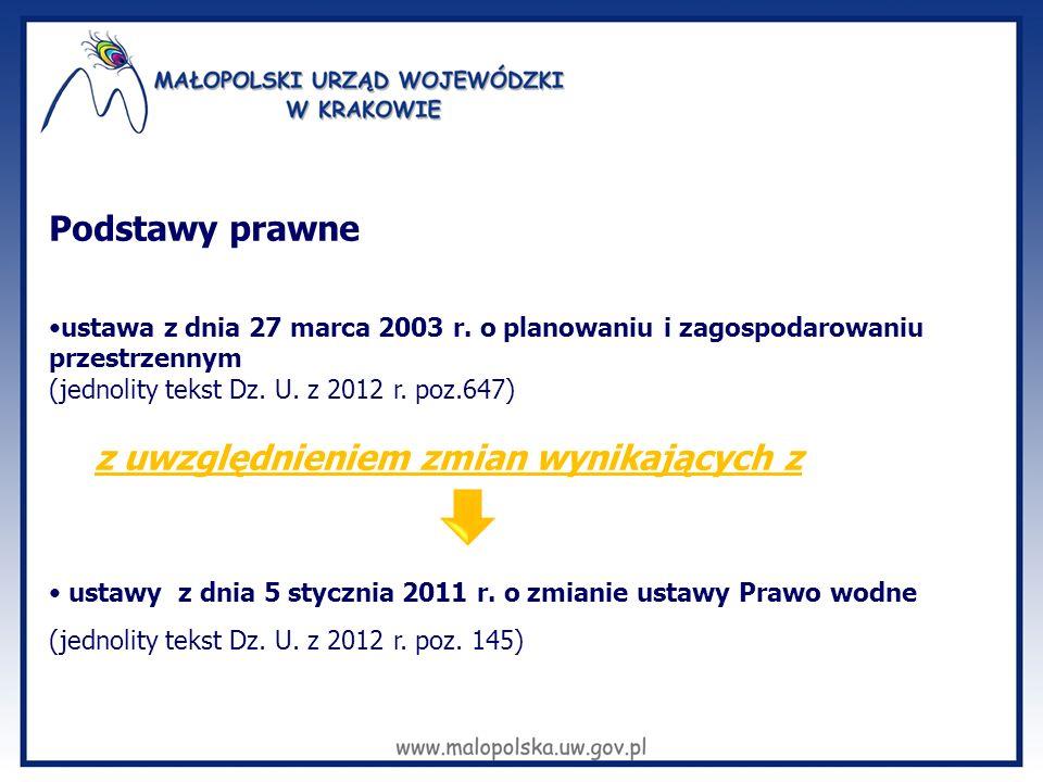 Podstawy prawne ustawa z dnia 27 marca 2003 r. o planowaniu i zagospodarowaniu przestrzennym. (jednolity tekst Dz. U. z 2012 r. poz.647)