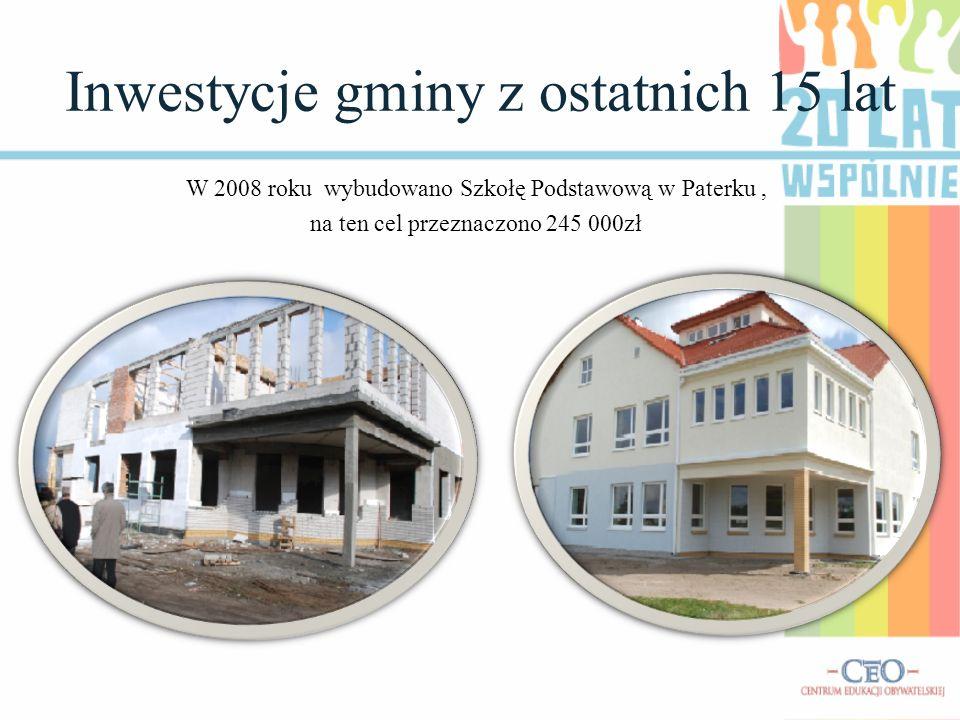 Inwestycje gminy z ostatnich 15 lat