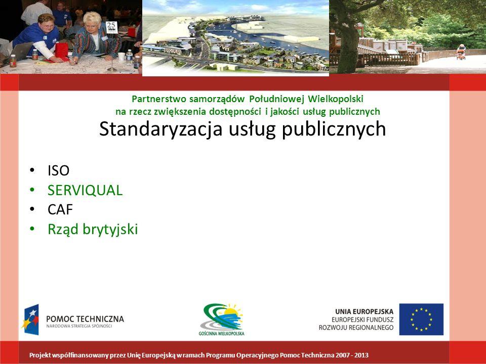 Standaryzacja usług publicznych