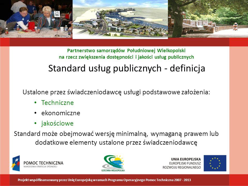 Standard usług publicznych - definicja