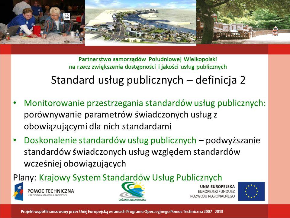 Standard usług publicznych – definicja 2