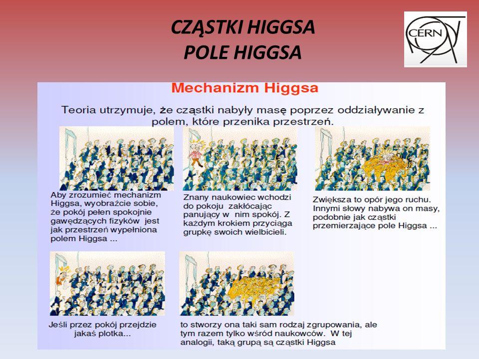 CZĄSTKI HIGGSA POLE HIGGSA