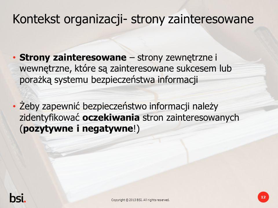 Kontekst organizacji- strony zainteresowane