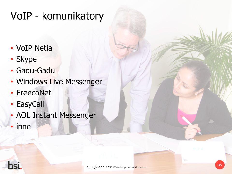 VoIP - komunikatory VoIP Netia Skype Gadu-Gadu Windows Live Messenger