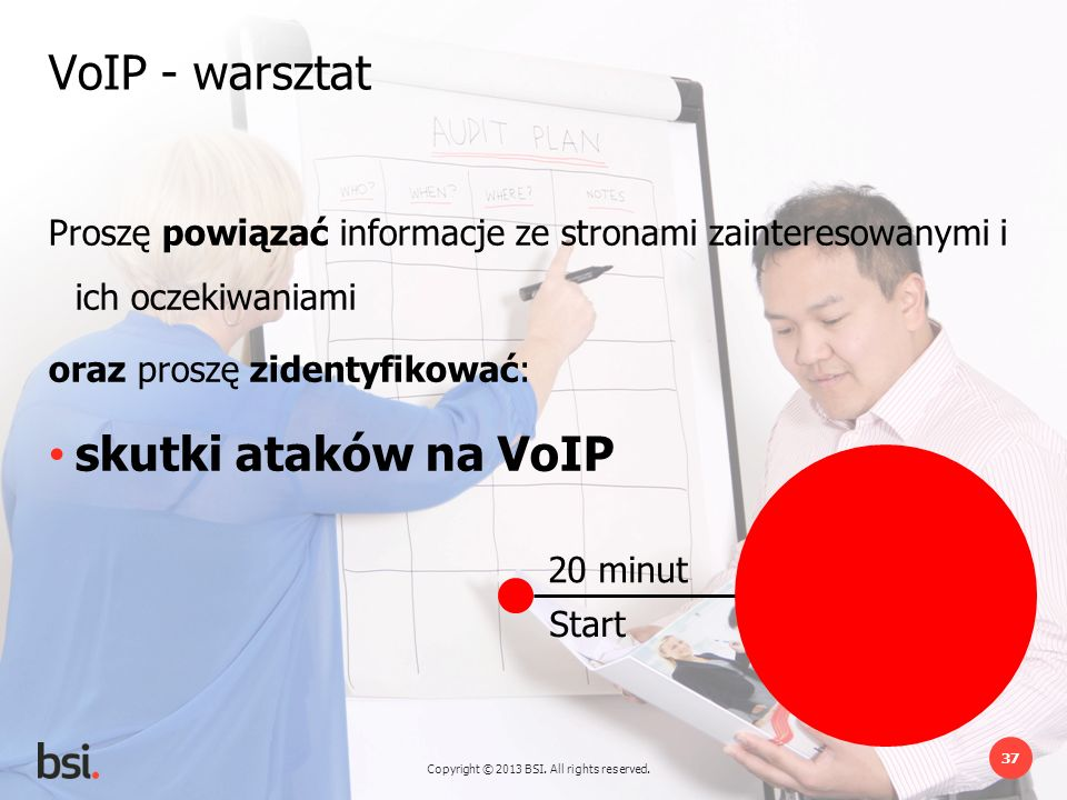 VoIP - warsztat skutki ataków na VoIP