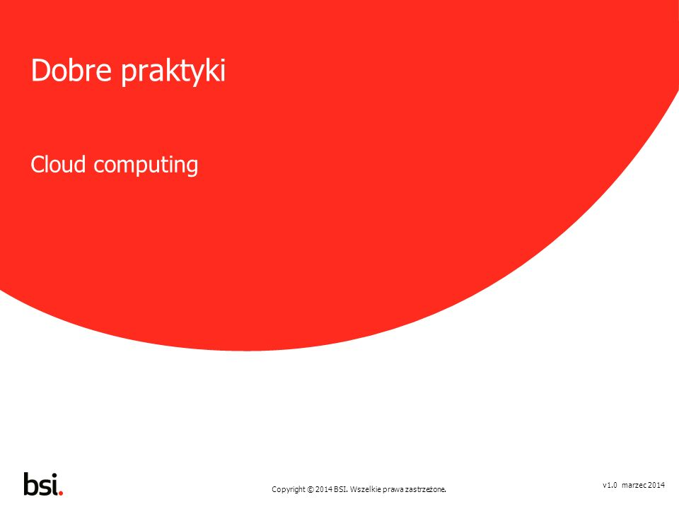 Dobre praktyki Cloud computing