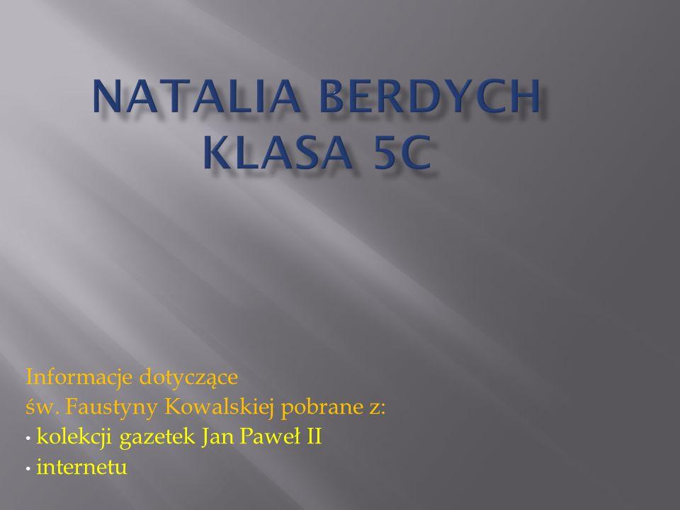 Natalia Berdych Klasa 5c