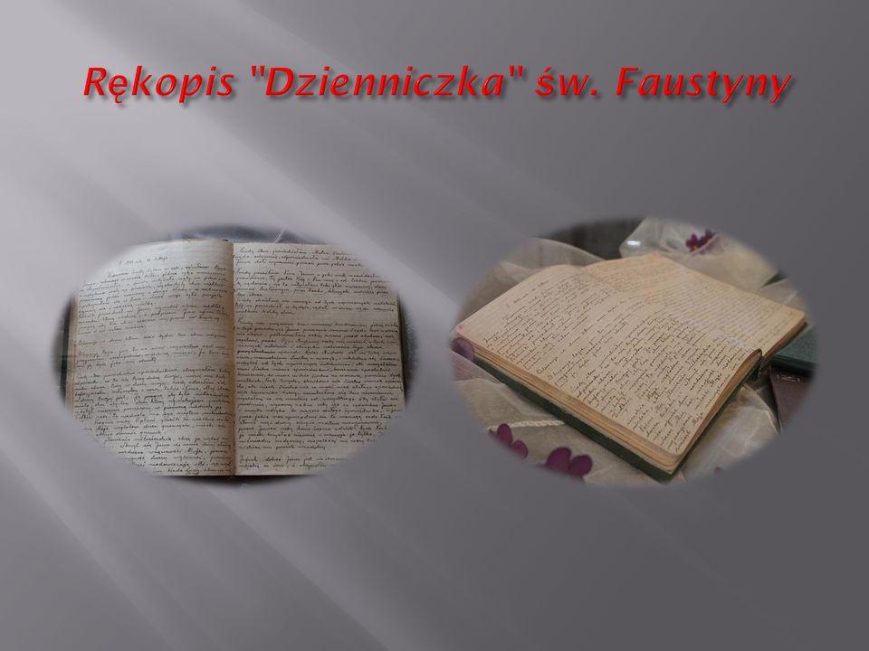 Rękopis Dzienniczka św. Faustyny