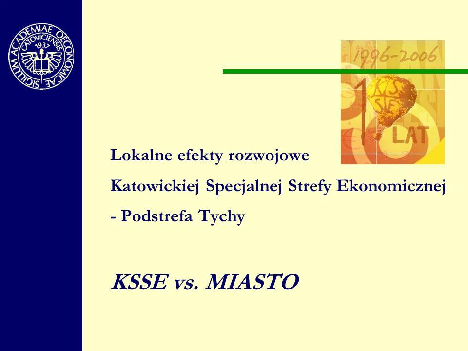 Lokalne efekty rozwojowe Katowickiej Specjalnej Strefy Ekonomicznej - Podstrefa Tychy KSSE vs.
