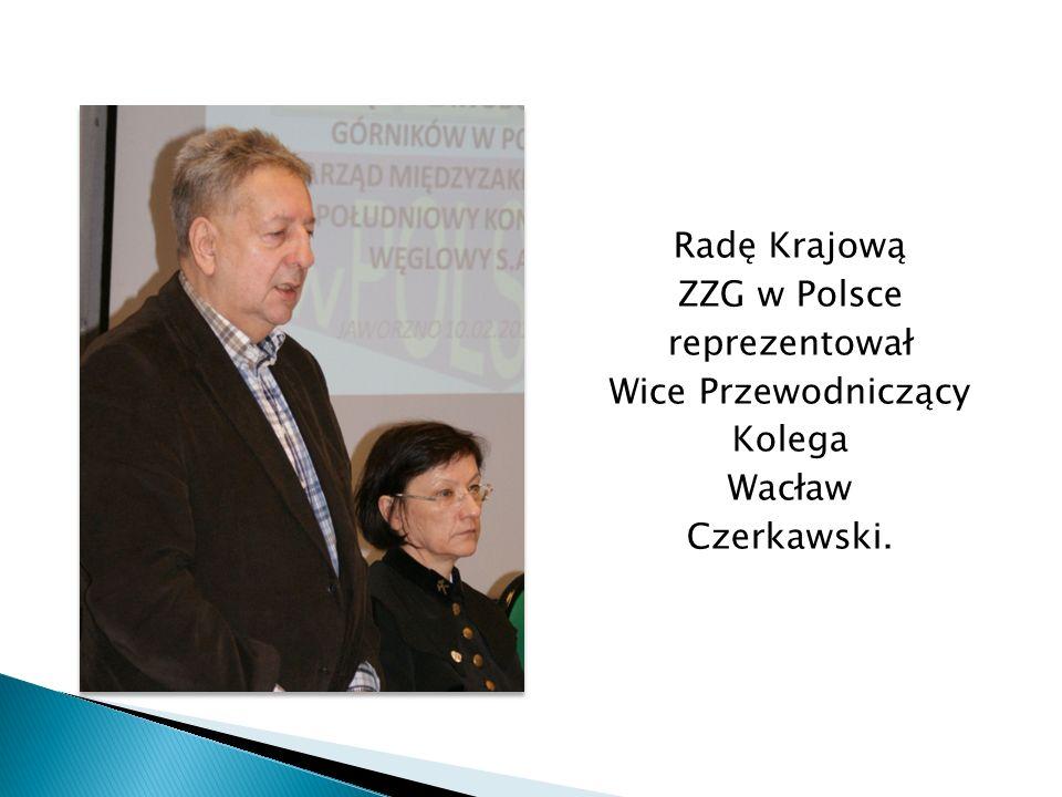 Radę Krajową ZZG w Polsce reprezentował Wice Przewodniczący Kolega Wacław Czerkawski.