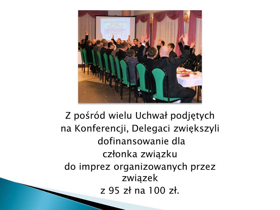 Z pośród wielu Uchwał podjętych na Konferencji, Delegaci zwiększyli