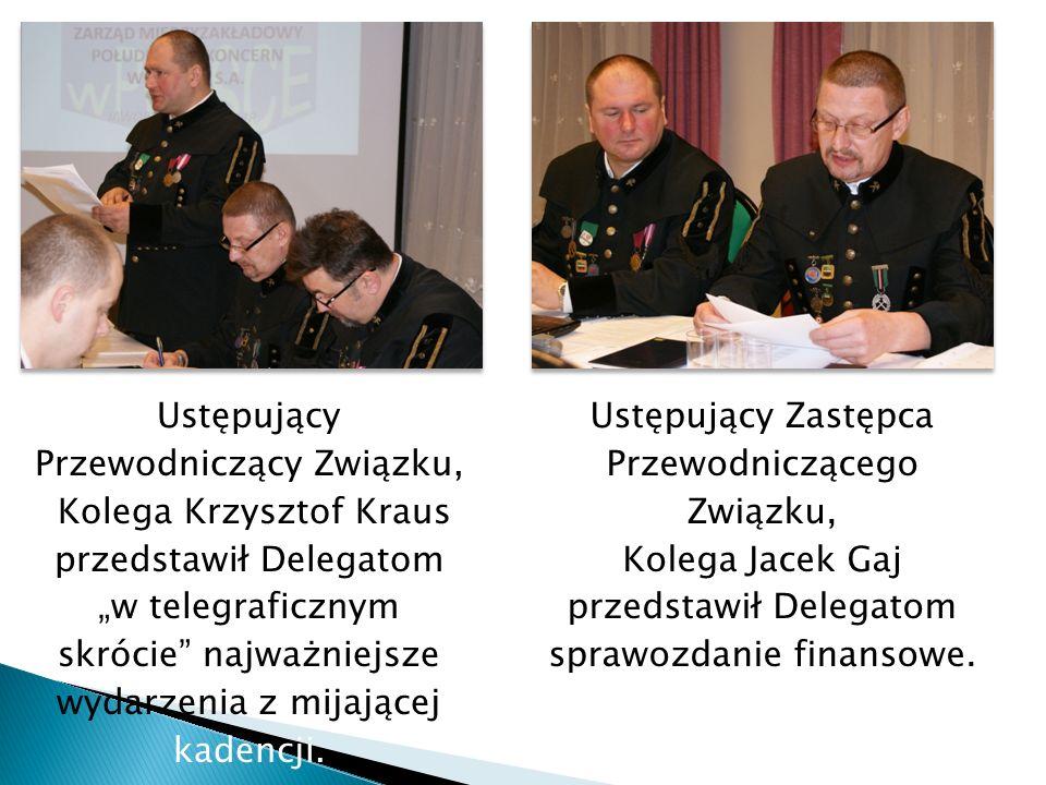 Przewodniczący Związku, Kolega Krzysztof Kraus przedstawił Delegatom