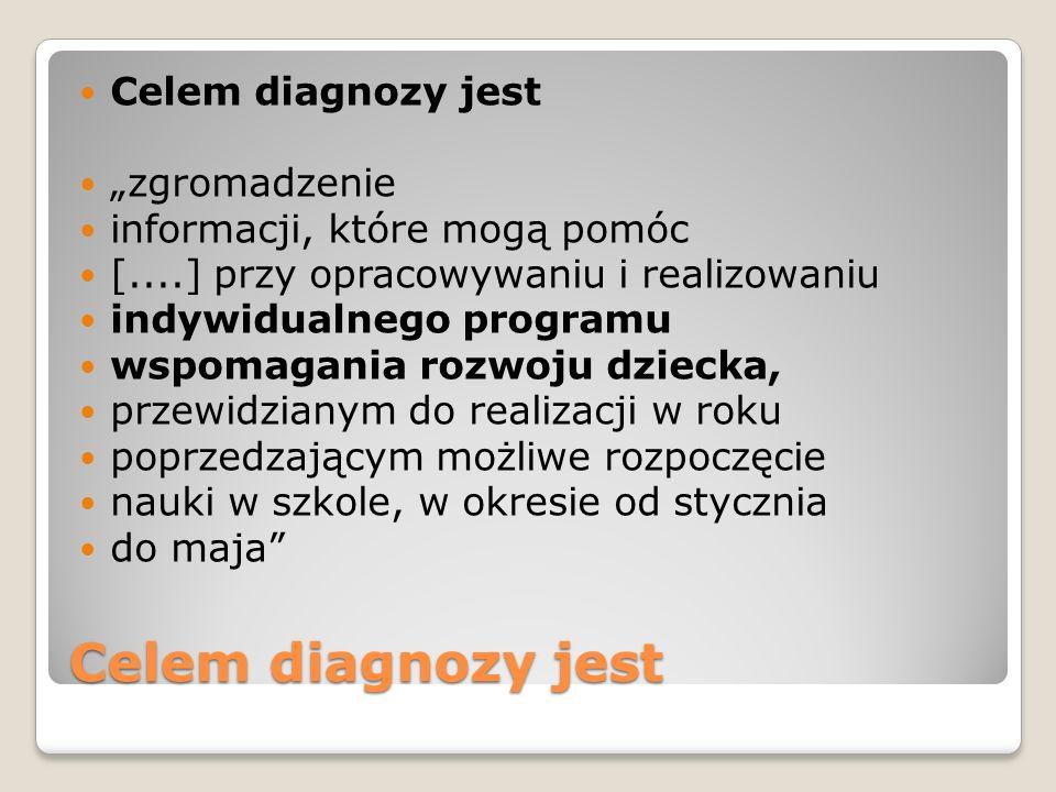 """Celem diagnozy jest Celem diagnozy jest """"zgromadzenie"""