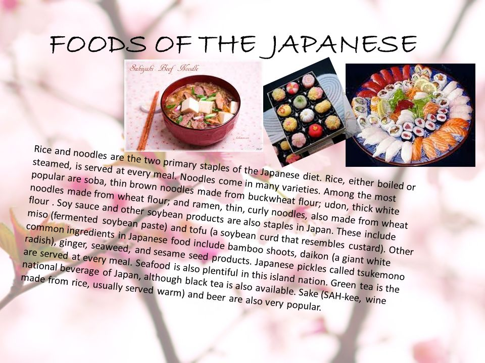FOODS OF THE JAPANESE