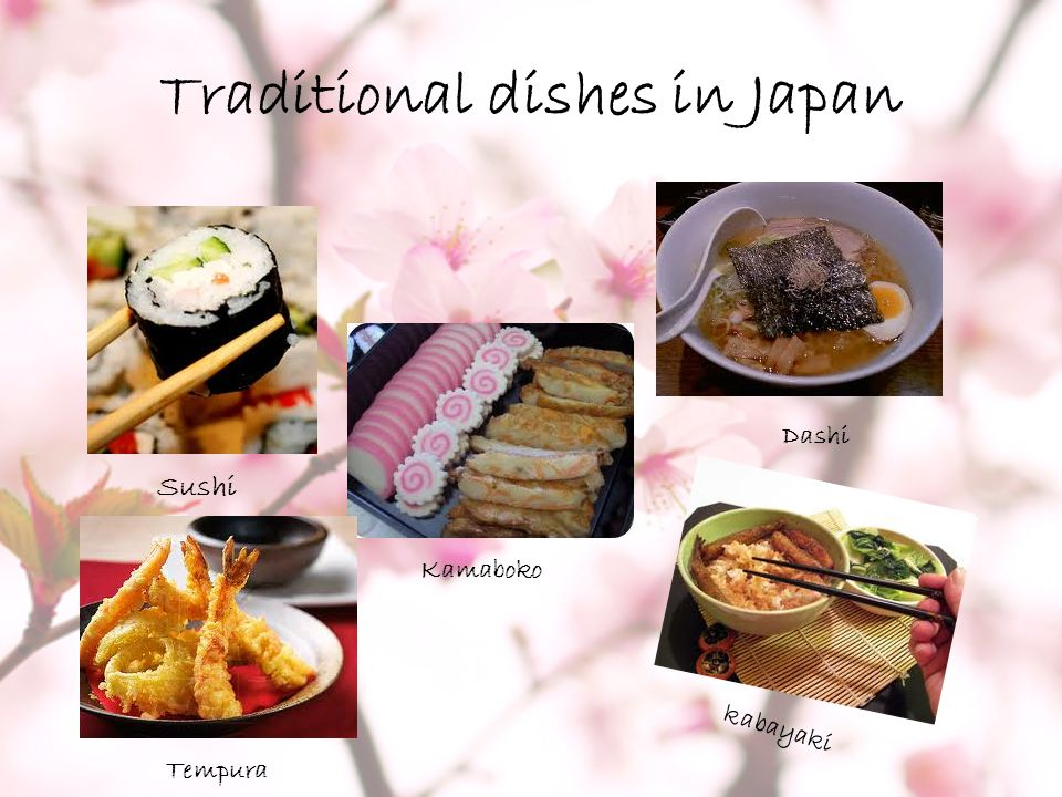 Traditional dishes in Japan